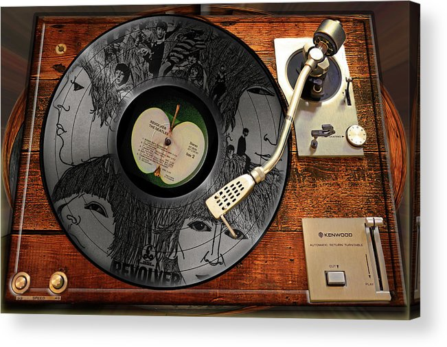 Beatles Acrylic Print featuring the photograph Revolver by John Anderson