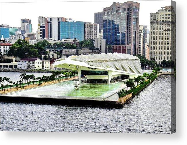 Rio De Janeiro Acrylic Print featuring the photograph Rio de Janeiro Harbor Buildings by Kirsten Giving