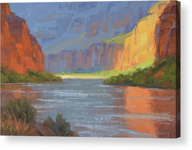 Grand Canyon Acrylic Print featuring the painting Rise and Shine by Cody DeLong