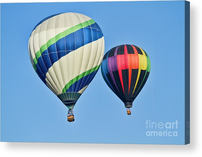 Hot Air Ballons Acrylic Print featuring the photograph Rising High by Arthur Bohlmann