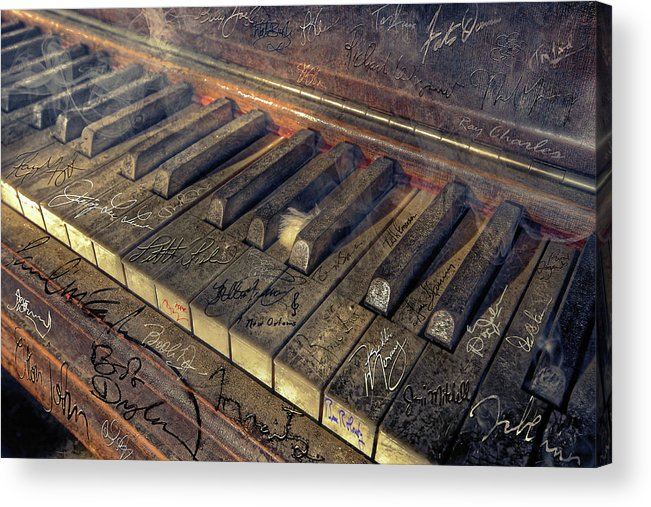 Rock Acrylic Print featuring the photograph Rock Piano Fantasy by Mal Bray