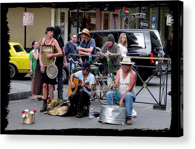 New Orleans Acrylic Print featuring the photograph Royal Street Musicians by Linda Kish
