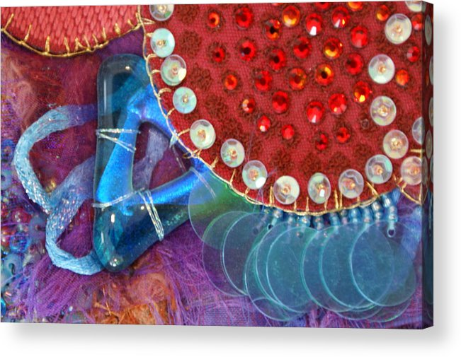 Acrylic Print featuring the mixed media Ruby Slippers 4 by Judy Henninger