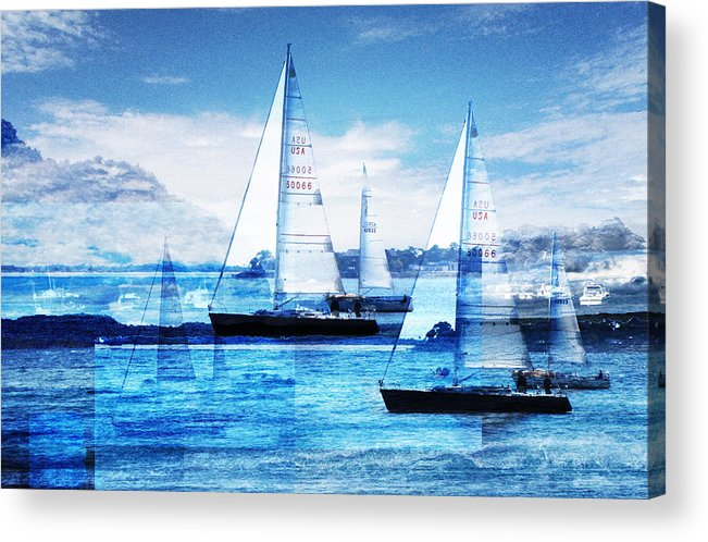 Boats Acrylic Print featuring the photograph Sailboats by Matthew Robbins