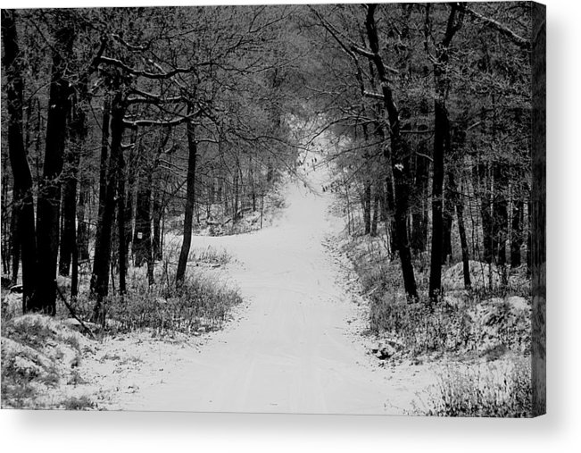 Snow Acrylic Print featuring the photograph See where it leads. by Jean Macaluso