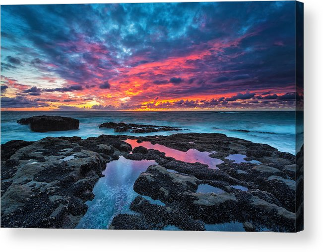 Sunset Acrylic Print featuring the photograph Serene Sunset by Robert Bynum