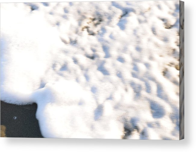 Beach Shell Sand Sea Ocean Acrylic Print featuring the photograph Shell and Waves Part 4 by Alasdair Turner