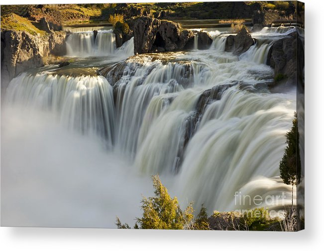 Shoshone Falls Acrylic Print featuring the photograph Shoshone Falls in Spring by Dennis Hammer