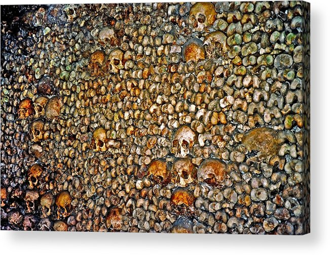 Skulls Acrylic Print featuring the photograph Skulls and Bones under Paris by Juergen Weiss
