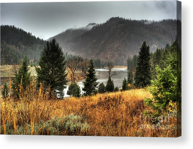 Places Acrylic Print featuring the photograph Snake River Canyon by Dennis Hammer