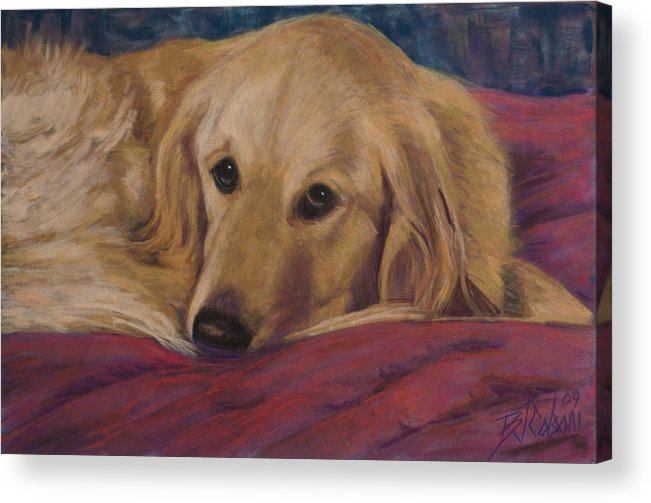 Dogs Acrylic Print featuring the painting Soulfull Eyes by Billie Colson