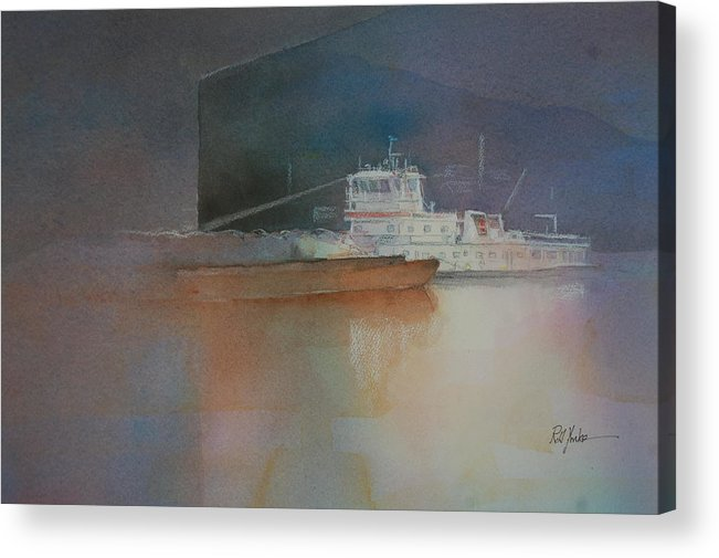 Barge Acrylic Print featuring the painting Spotlight by Robert Yonke
