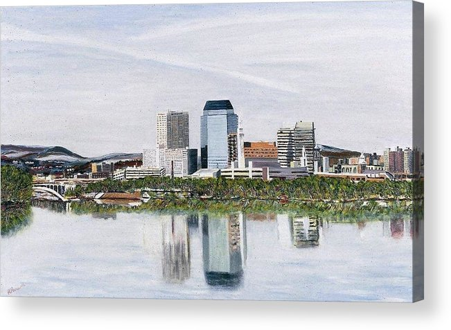 Reflections Acrylic Print featuring the painting Springfield Reflections by Richard Nowak