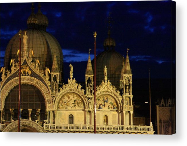Venice Acrylic Print featuring the photograph St. Mark's Basilica at Sunrise by Michael Henderson