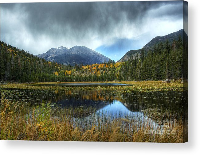 Nature Acrylic Print featuring the photograph Storm Over Cub Lake by Pete Hellmann