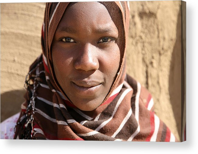 Sudan Acrylic Print featuring the photograph Sudanese girl by Marcus Best
