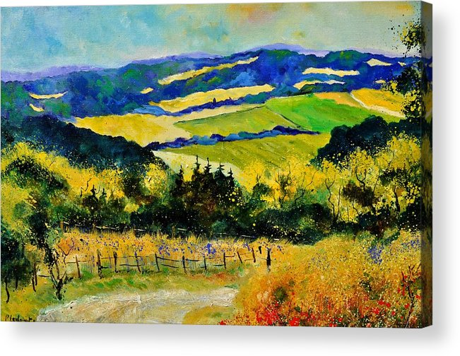 Landscape Acrylic Print featuring the painting Summer Landscape by Pol Ledent