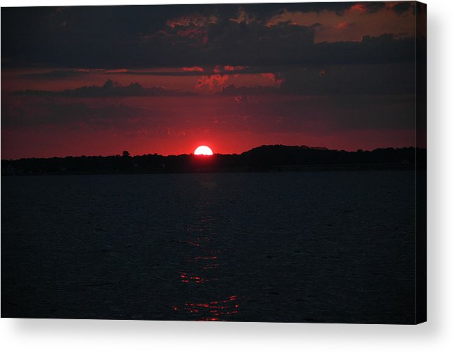 Fishing Acrylic Print featuring the photograph Sunrise on The Chesapeake Bay by Marc Van Pelt