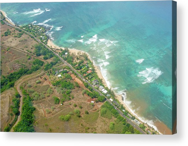 Surfers Acrylic Print featuring the photograph Surf's Up on Oahu Beach by Mandy Wiltse