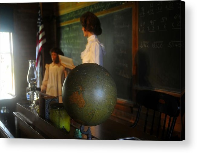 1800s Acrylic Print featuring the photograph Teaching Globe by David Lee Thompson