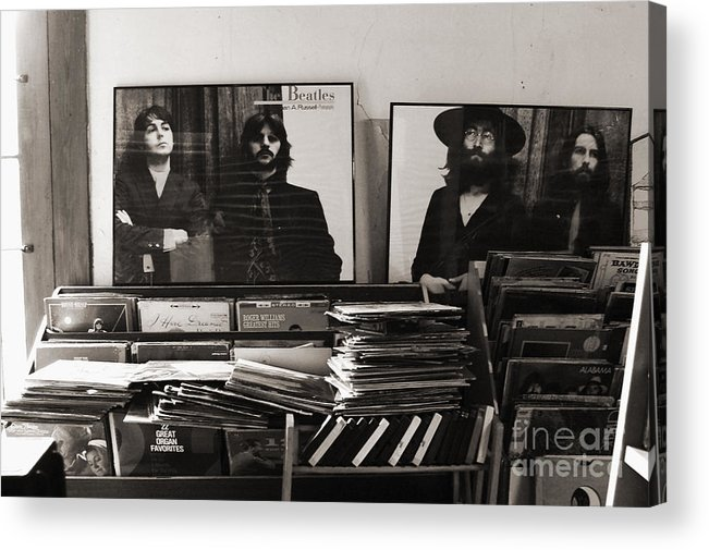 The Beatles Acrylic Print featuring the photograph The Beatles Yesterday by Anna Payne