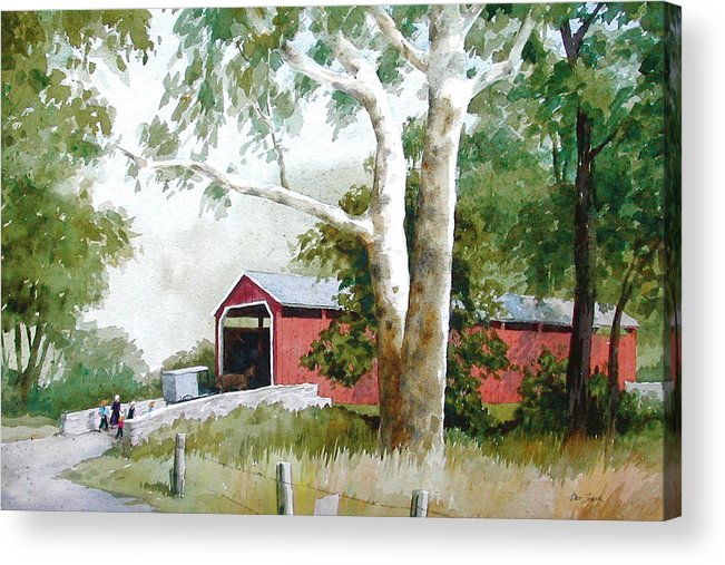 Sycamore Acrylic Print featuring the painting The Big Sycamores by Faye Ziegler