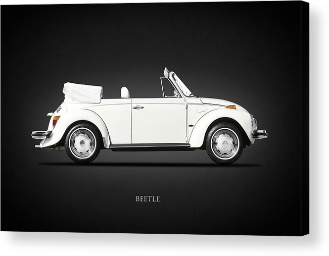 Vw Beetle Acrylic Print featuring the photograph The Classic Beetle by Mark Rogan