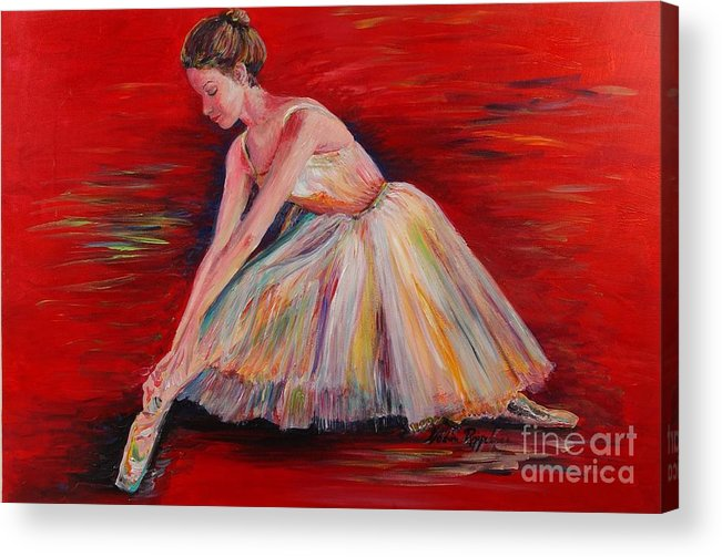 Dancer Acrylic Print featuring the painting The Dancer by Nadine Rippelmeyer
