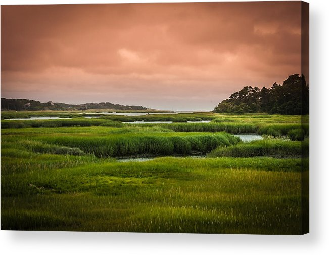 Duck Creek Marsh Acrylic Print featuring the photograph The Salt Marsh by Heather Hubbard