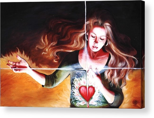 Christian Acrylic Print featuring the painting The Stirring by Teresa Carter