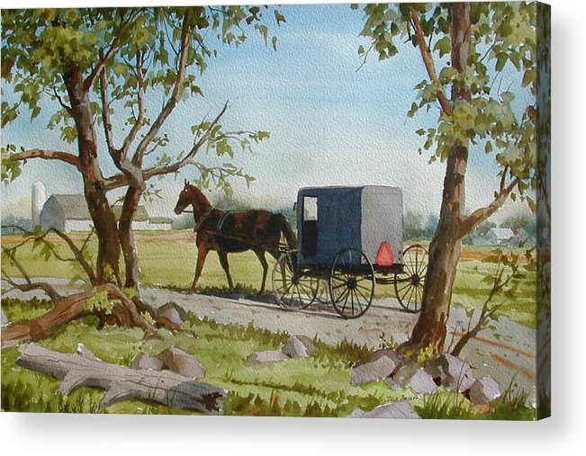 Landscape Acrylic Print featuring the painting This Side of Paradise by Faye Ziegler