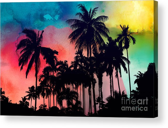 Acrylic Print featuring the painting Tropical Colors by Mark Ashkenazi