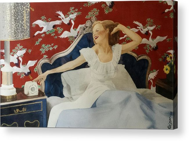 Portrait Acrylic Print featuring the painting Rise And Shine by David Corrigan