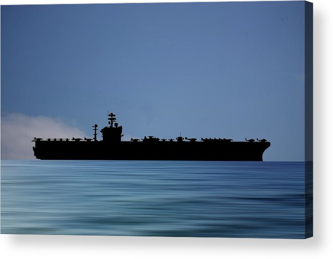 Uss Abraham Lincoln Acrylic Print featuring the photograph USS Abraham Lincoln 1988 v4 by Smart Aviation