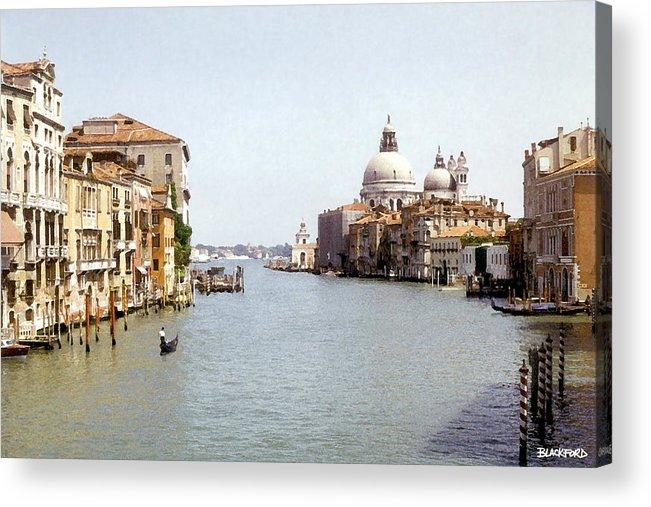 Venice Acrylic Print featuring the digital art Venice Grand Canal by Al Blackford