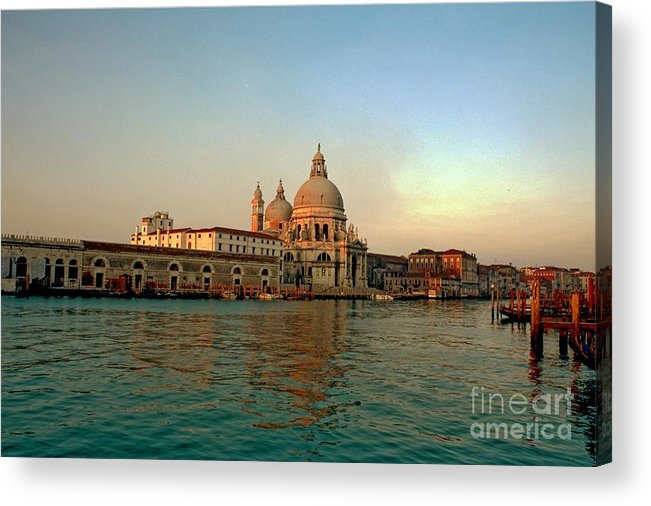 Venice Acrylic Print featuring the photograph View Of Santa Maria Della Salute On Grand Canal In Venice by Michael Henderson