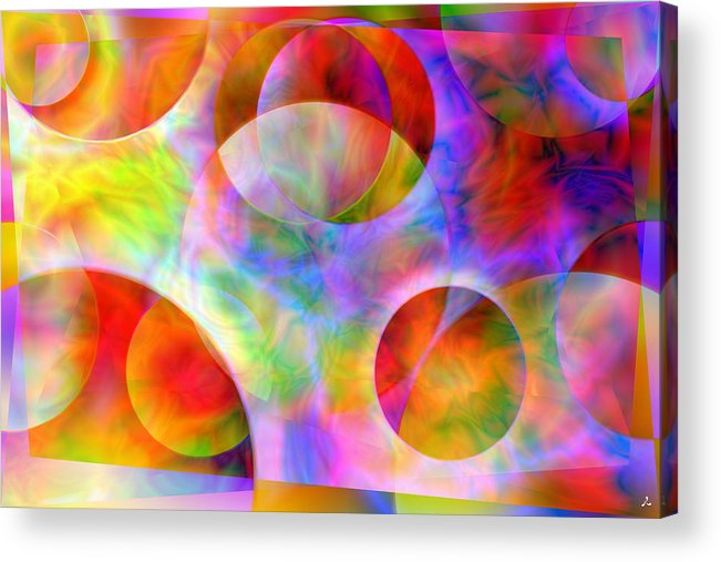 Colors Acrylic Print featuring the digital art Vision 29 by Jacques Raffin