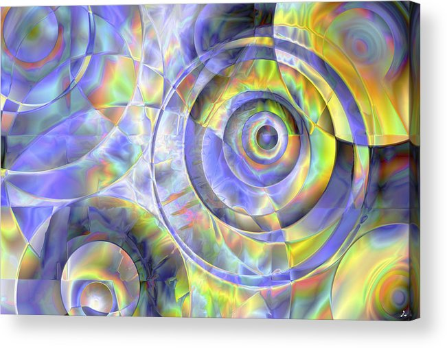 Colors Acrylic Print featuring the digital art Vision 37 by Jacques Raffin