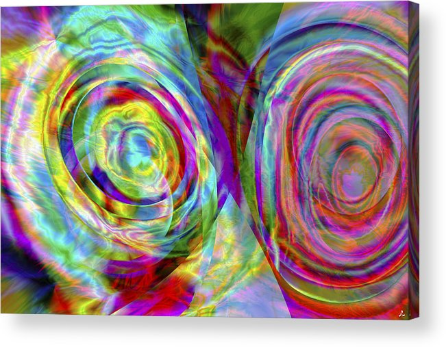 Crazy Acrylic Print featuring the digital art Vision 44 by Jacques Raffin