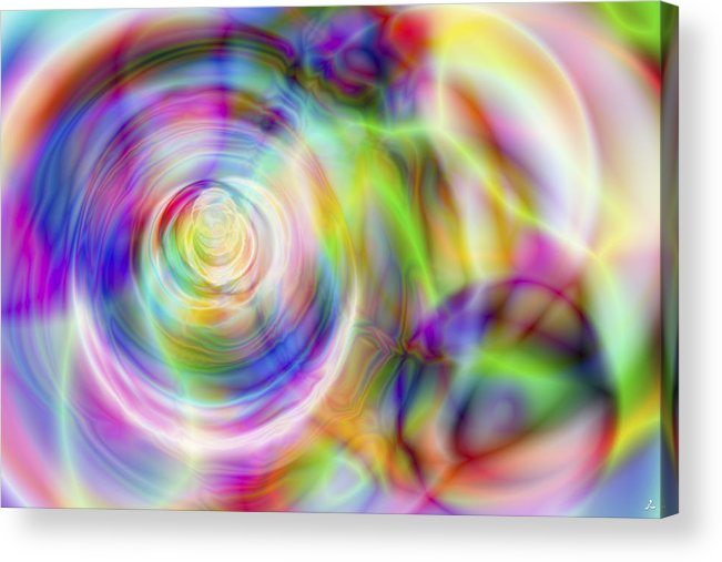Crazy Acrylic Print featuring the digital art Vision 7 by Jacques Raffin