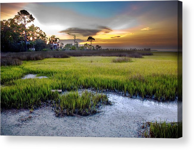 Sunset Acrylic Print featuring the photograph Waning Sun by Norman Johnson