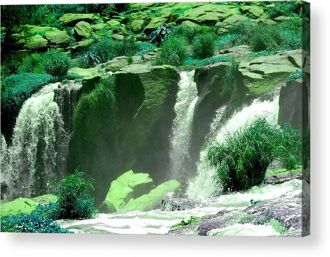 Water Acrylic Print featuring the photograph Waterfall by Apurva Madia