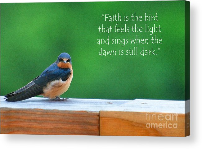 Diane Berry Acrylic Print featuring the painting When The Dawn Is Still Dark by Diane E Berry