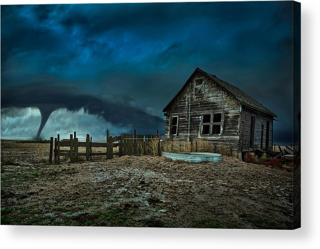 Tornado Acrylic Print featuring the photograph Wicked by Thomas Zimmerman