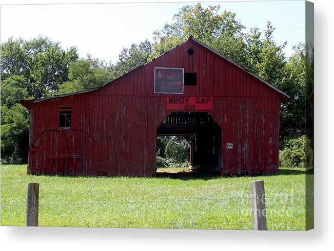 Nature Acrylic Print featuring the photograph Windy Gap Memories by Linda Gail