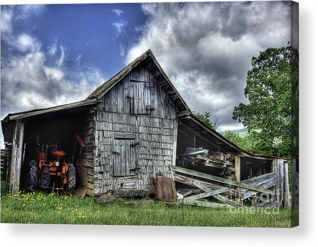 Landscape Acrylic Print featuring the photograph Work is all done by Pete Hellmann