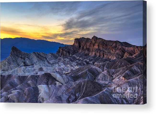 Adventure Acrylic Print featuring the photograph Zabriskie Point Sunset by Charles Dobbs