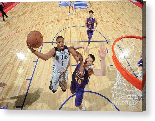 Nba Pro Basketball Acrylic Print featuring the photograph 2017 Las Vegas Summer League - Dallas by Garrett Ellwood