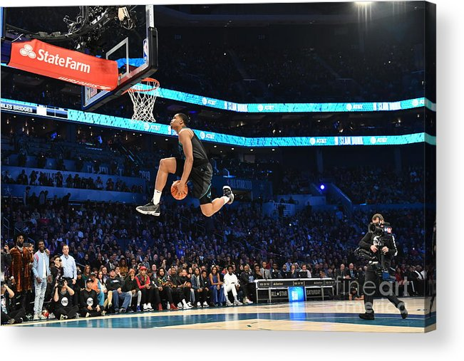 Nba Pro Basketball Acrylic Print featuring the photograph 2019 At&t Slam Dunk by Jesse D. Garrabrant