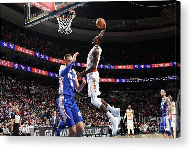 Nba Pro Basketball Acrylic Print featuring the photograph Atlanta Hawks V Philadelphia 76ers by Jesse D. Garrabrant